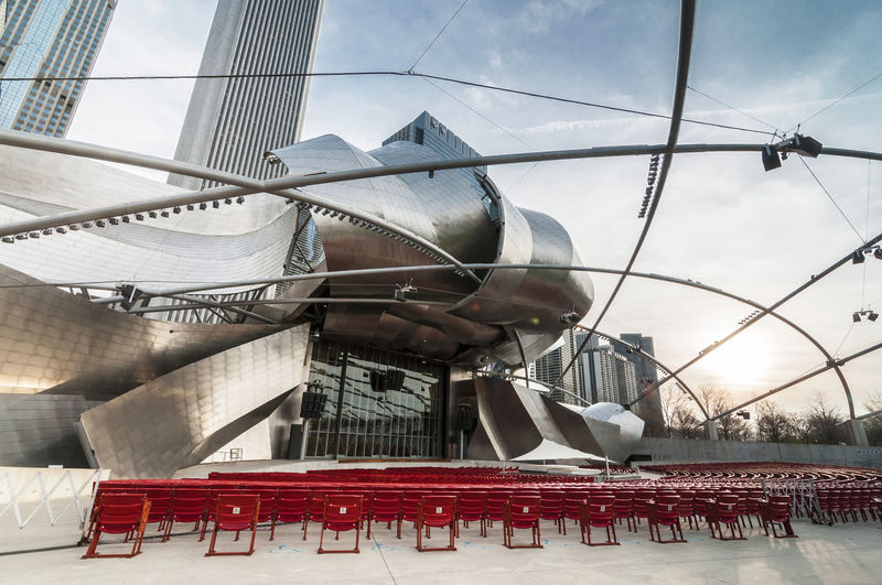Jay Pritzker Jay Pritzker Pavillion Stage Architecture Building Exterior Day No People Outdoors Seating Sky