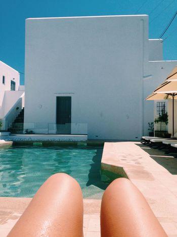 Paros, Greece. Paros Greece Summer Swimmingpool Tanning Legs Hangingout Europe