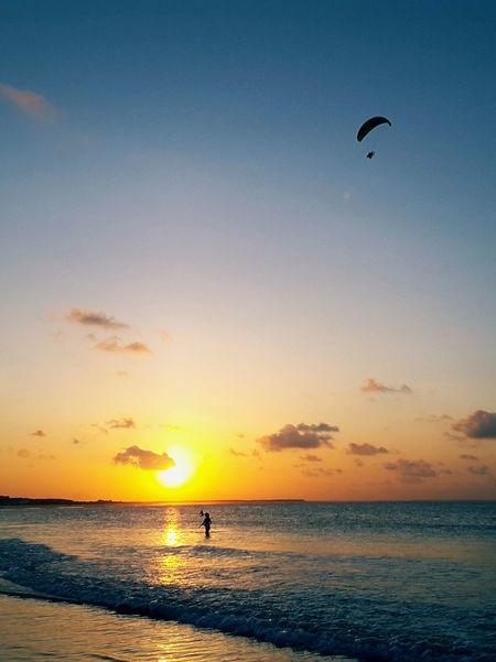 City of Salinópolis, Atalaia Beach, State of Pará, Amazon, Brazil. Sunset Beach Sea Silhouette Sky Scenics Nature