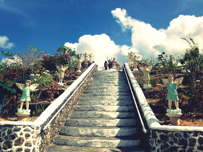 Stairs Stairway Angels Statue Monastery Sky And Clouds Spending Time With My Friends Weekend Activities The Essence Of Summer Things I Like Travel Photography Mobile Photography Simple Moment Eyeem Philippines