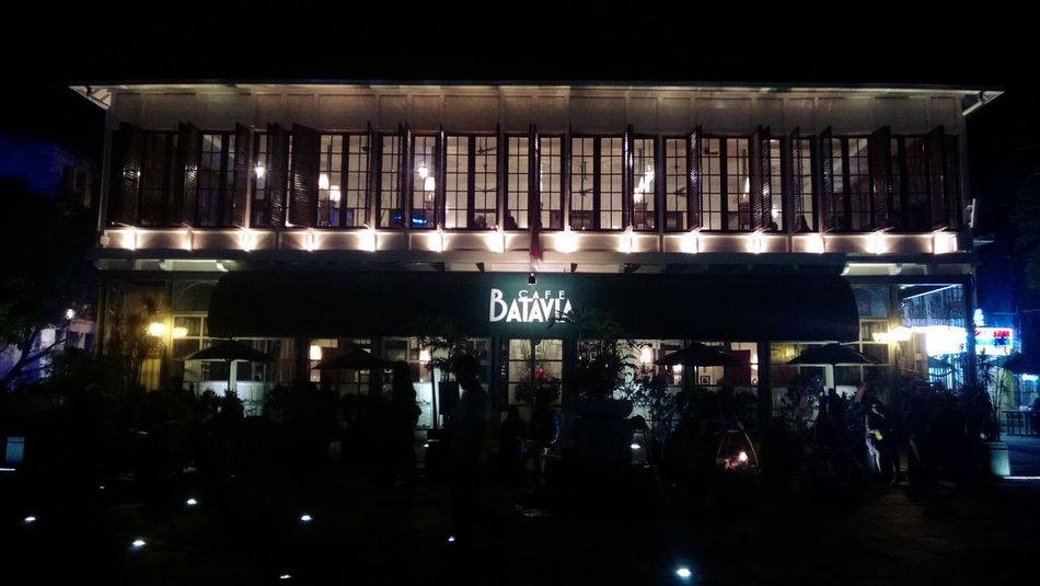 Batavia Cafe Taking Photos Musem Fatahila Night Shot My City Jakarta