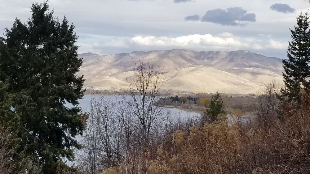 Cloud - Sky Mountain Tree Utah Pineview Dam Sky Nature Lake Water No People Outdoors Day Beauty In Nature Bare Trees Fall Days