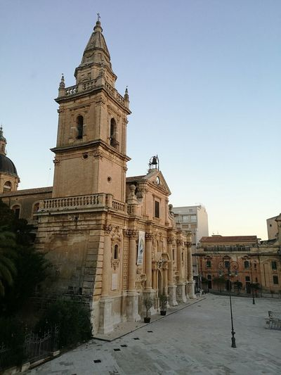 Ragusa Architecture Architecture Built Structure Travel Destinations Sky Tower Politics And Government Clock Tower No People Building Exterior Clock Clock Face Outdoors Day Ragusa - Scorcio Italiano