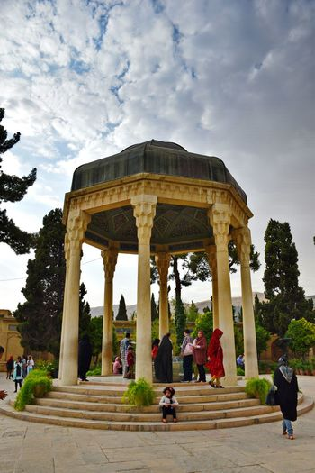 Shiraz, Iran Hafez tumb in Hafezie . Travel Photography Sky And Clouds Sky Collection Architecture Iran♥ Ancient Taking Photos