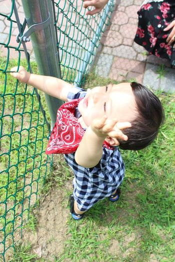 Candid Candidshot EyeEm New Jersey Love What I Value Nephew  Baby Family Sunshine Birthday Cowboy Children Photography Leisure Activity Childhood Innocence Smiling Standing Boys Outdoors One Person
