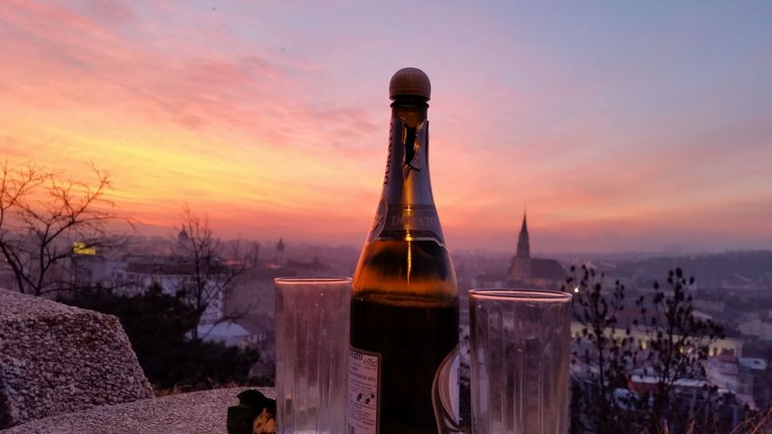 Champagne on a hill, sunrise and a view to make you want to live