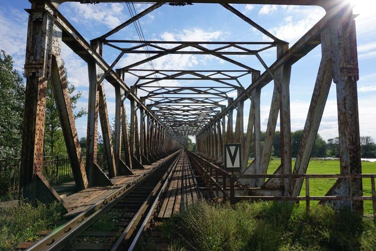 Bridge - Man Made Structure The Way Forward Connection Built Structure Transportation Sky Railroad Track Polska Sony A6000 Tree Outdoors Day Railway Bridge Railroad Bridge No People Nature Elevated Walkway