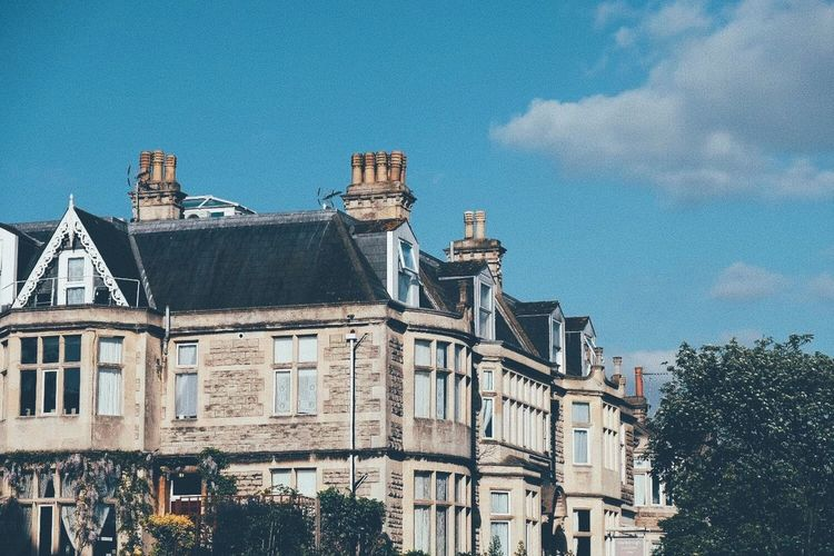 Chimney Pots in Bath Classicchrome Uk Traveling Travel Chimney Residential Building City Low Angle View Outdoors Cityscape Blue Day