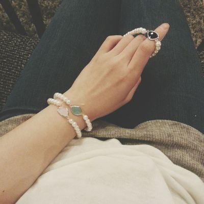 팔찌 일요일오후2시 Handmade Jewellery 3color 글라스팔찌