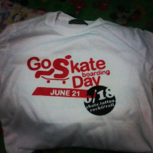 Thank you sa t-shirt & Congrats @m1killer of Yummy Frostee. Cheers! Shirt Board SkateboardingDay Tee
