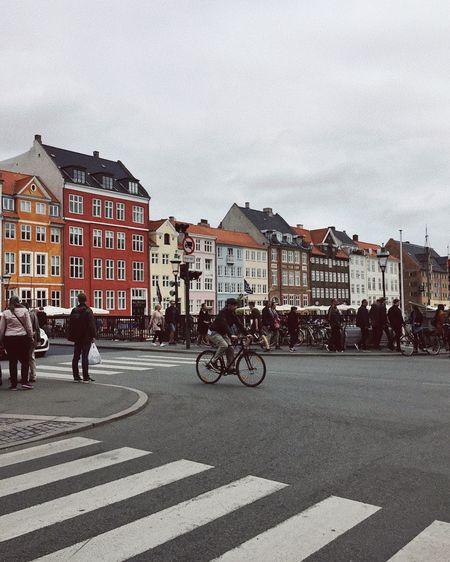 A New Beginning Copenhagen Copenhagen, Denmark Denmark Architecture City Built Structure Road Street Sky Men Outdoors Bicycle Colors