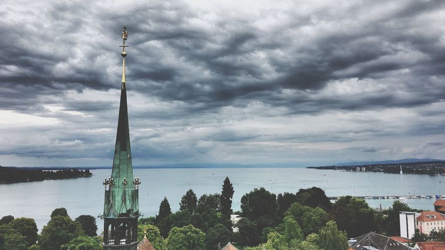 Konstanz, Germany Cloudy Konstanz Lake Bodensee Church Cloud - Sky Sky Tree Nature Plant Architecture Built Structure Water City Tower Tall - High