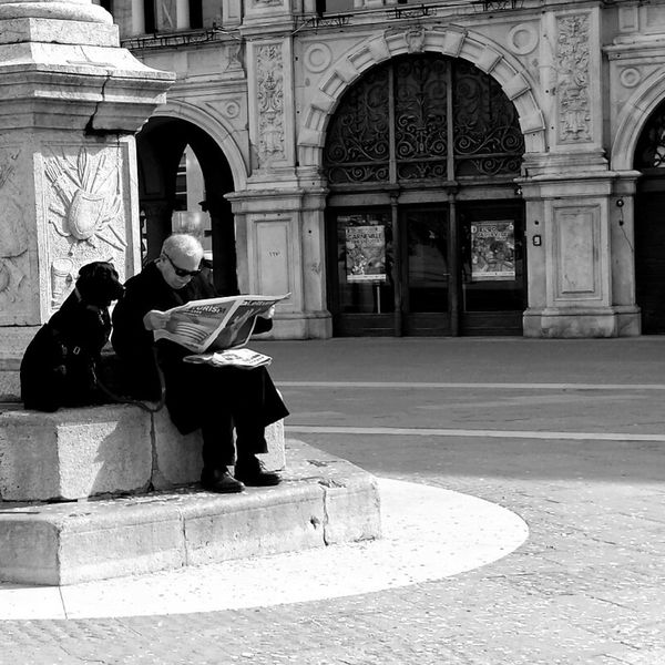Piazza Unità Street Photography Black & White I Love My Town