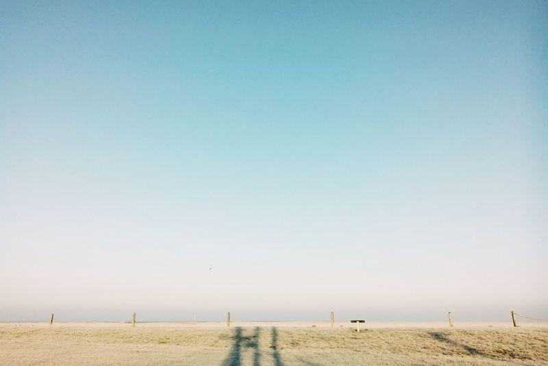 Nordseeküste Deich  Wremen Home VSCO Morning Light Blue Sky Minimalobsession