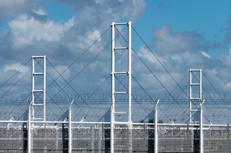 Eurotunnel Scenery Architecture Bridge - Man Made Structure Cloud - Sky Connection Day Eurotunnel Fence No People Outdoors Sky Transportation