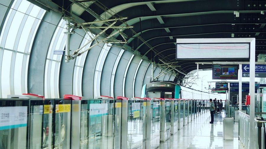 我想在这里记录好自己的每一天!🌞 City Indoors  Architecture Modern Built Structure Transportation Railroad Station Business Finance And Industry People Futuristic Day