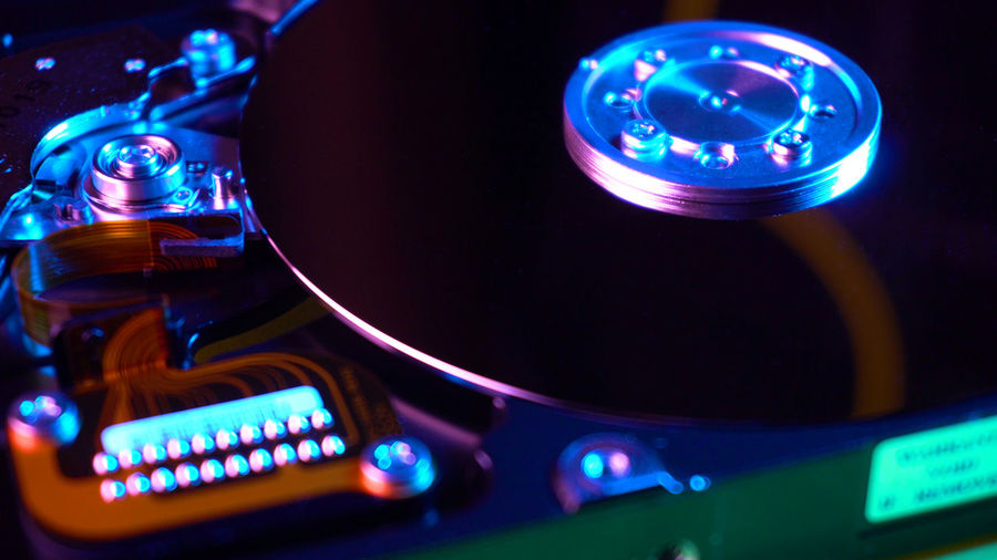 HDD drive Technology Music Close-up Illuminated No People Arts Culture And Entertainment Audio Equipment Blue Record Equipment Turntable Indoors  Control Panel Control Multi Colored Night Compact Disc Sound Recording Equipment High Angle View Nightlife Electrical Equipment