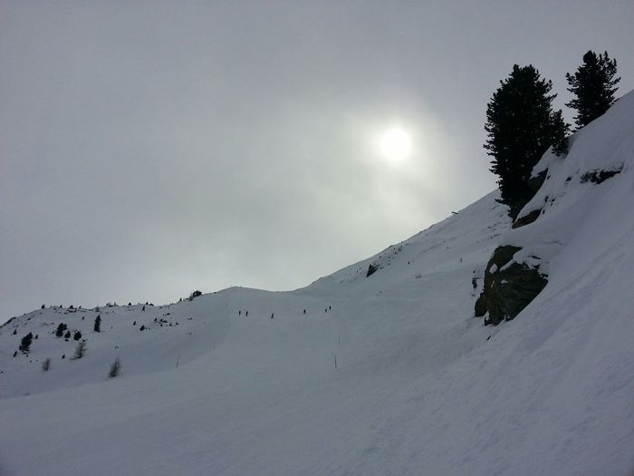 Landscape Mist Sun White Skiing Snow Mountains Silhouette Winter The Purist (no Edit, No Filter)