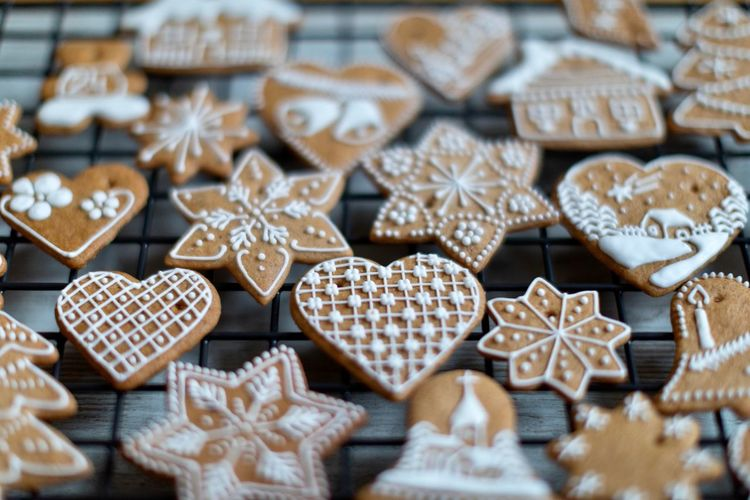 EyeEm Selects Celebration Shape Christmas Star Shape Snowflake Holiday Winter Decoration No People Cold Temperature Cookie Backgrounds Sweet Food Baked