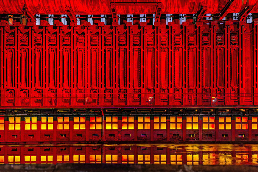 Extraschicht 2017 Industrial Industry Light Lights Night Lights Night Photography Nightphotography Reflection Zeche Zollverein Abstract Backgrounds Close-up Day Eye4photography  Full Frame Illuminated Indoors  Light And Shadow Night No People Pattern Red Steel Steel Structure