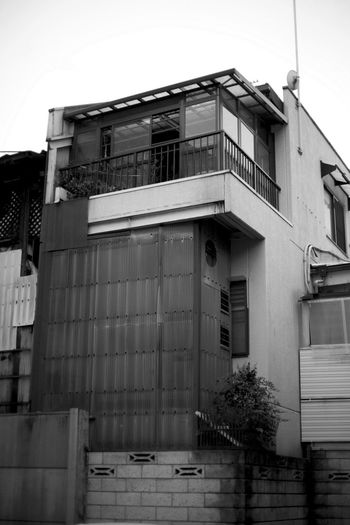 Japan Apartment Architecture Building Building Exterior Built Structure City Clear Sky Day Door Entrance Façade House Kyoto Low Angle View Nature No People Outdoors Railing Residential District Sky Wall Window