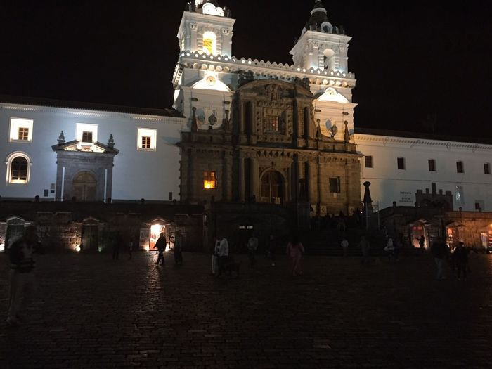SanFranciscoChurch Sanfrancisco Quito Ecuador Night Illuminated City Architecture