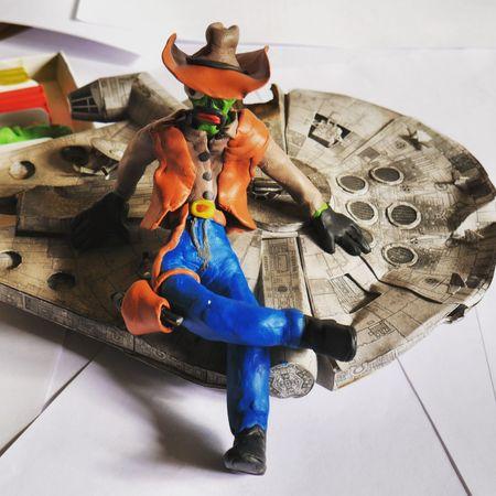 Cowboy Green Millenium Falcon Toys Alien UFO First Eyeem Photo