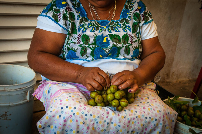 Campeche México Human Hand Market Fruit Vegetable Healthy Lifestyle Close-up This Is Latin America For Sale Market Vendor Vendor Street Market Street Food Shop
