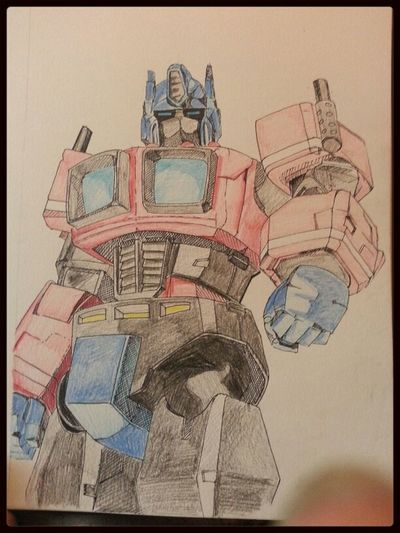 Transformers Sketch 30 Day Challenge Day 9 - Fave Cartoon Character