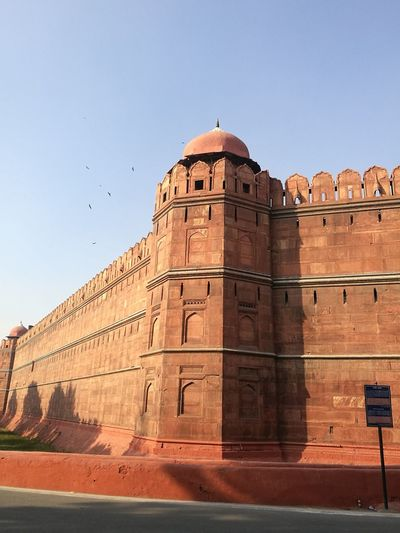 walls of the red fort Travel Destinations History Sunny Architecture Clear Sky