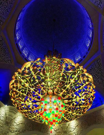 Abu Dhabi UAE EyeEmNewHere Fancychandelier No People Close-up Sheikzayedmosque Iconiclandmark