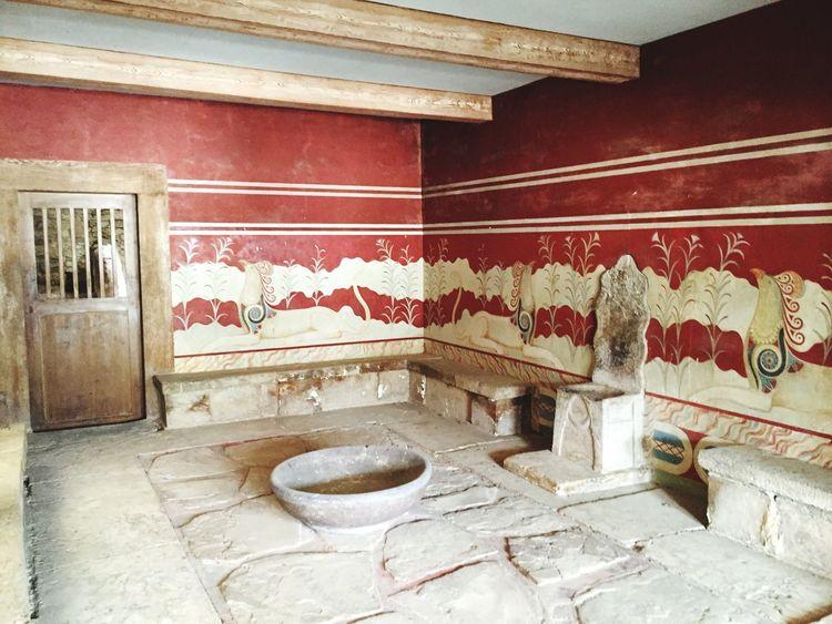 Palace Knossos Greece Crete Vacation