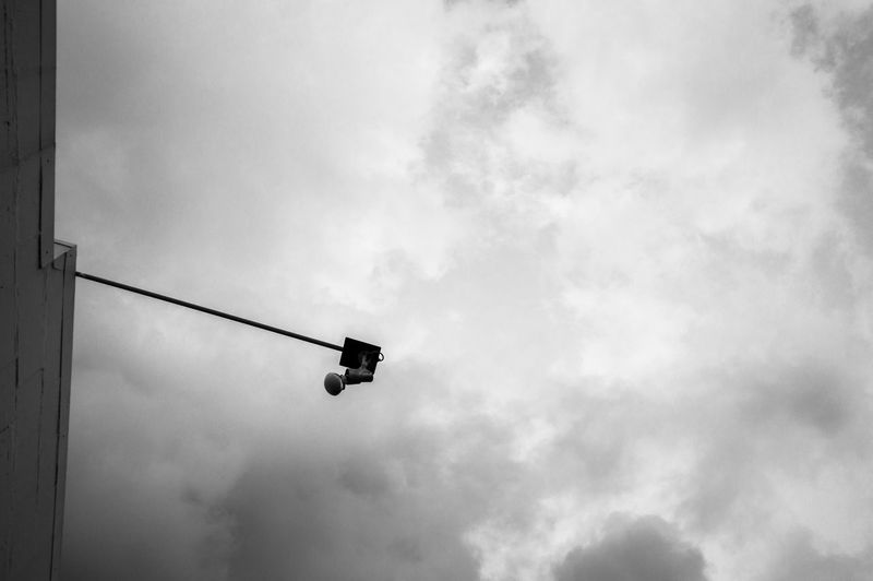 Black & White Black And White Blackandwhite Cloud - Sky Cloudy Lamp Low Angle View Monochrome Outdoors Sky Street Street Photography Streetphoto_bw Streetphotography Urban Urban Nature