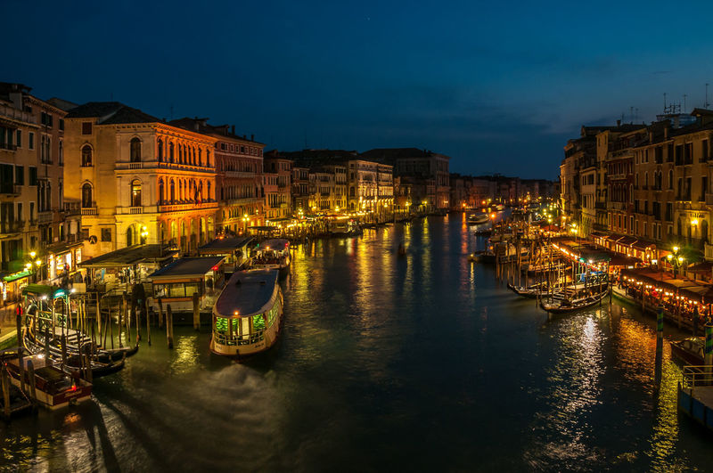 Grand Canal Venice Architecture Building Building Exterior Built Structure Canal City City Life Cityscape Grand Canal Venice Illuminated Mode Of Transport Night Outdoors Residential District River Sky Tourism Town Travel Destinations Water