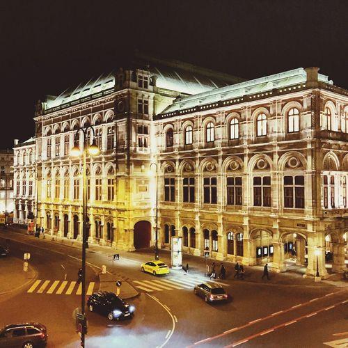 Vienna Operahouse State Opera Vienna City First District Night Sight Light Lights Architecture City History Travel