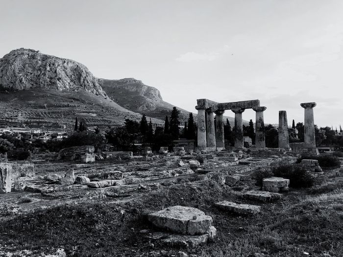 Ancient Corinth Archeology Ancient Corinth Greece Sky Tree Nature Day Architecture No People Old Ruin The Past History Built Structure Outdoors Ancient