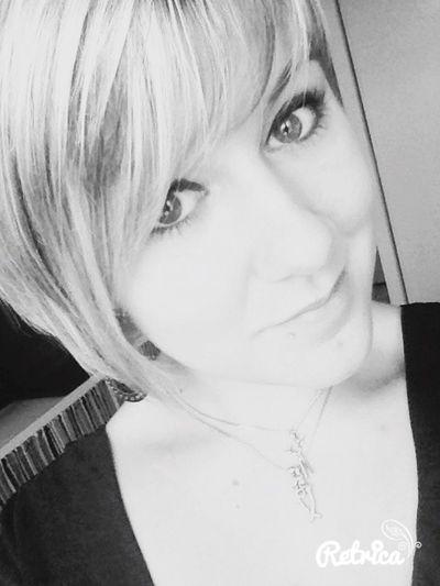 Blackandwhite Girl Eyes Go To Work Hairdresser