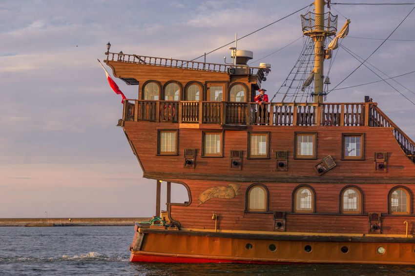 Baltic Sea Pirate Traveling Connection Mode Of Transportation Nautical Vessel Outdoors Sailboat Sea Ship Sky Sunset Transportation Travel Water Waterfront