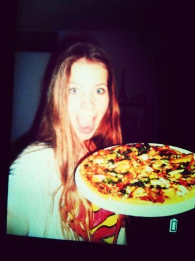 Pizza Selfie Enjoying A Meal In My Mouf Superman