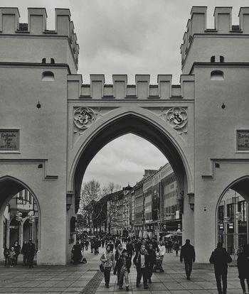Munich München Karlsplatz Monochrome Blackandwhite Bavaria City Streetphotography