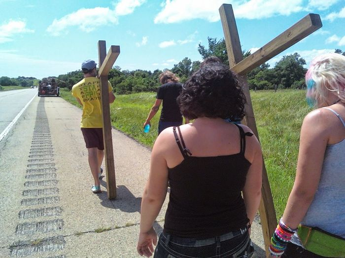 Walking for Jesus Young Adult People Togetherness Outdoors Faith Fellowship PraiseGod