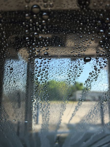 Carwash Drops Wet Clean Windshield Clean Car No People Rockport Texas Taking Photos Movement Photography IPhoneography