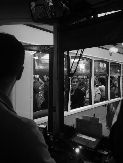 Black And White Friday Real People Transportation Day One Person Adult People EyeEmNewHere Tram Lisbon Lisboa, Portugal Lisbon City Life Togetherness Group Of People City Life Transportation City Portugal Lisboa Portugal Street Photography Black And White Photography Lisbon Trams Lisbon Tram Tram Cars Tram Driver Mobility In Mega Cities Stories From The City Adventures In The City Focus On The Story The Street Photographer - 2018 EyeEm Awards