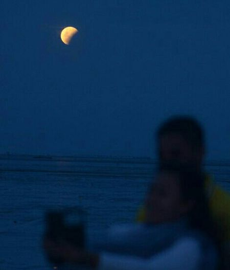 Natural Phenomena on the Earth Bloot Moon Ln Kenjersn Beach EyeEm Surabaya EyeEm Nature Lover