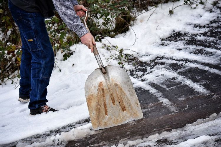 Adults Only Adult Environmental Conservation Low Section Cold Temperature One Person Snow Working Outdoors Men People One Man Only Nature Day Human Body Part Only Men Human Hand Snow Covered Winter Wonderland Snow ❄ Shovelhead Work Wintertime Driveway Winter