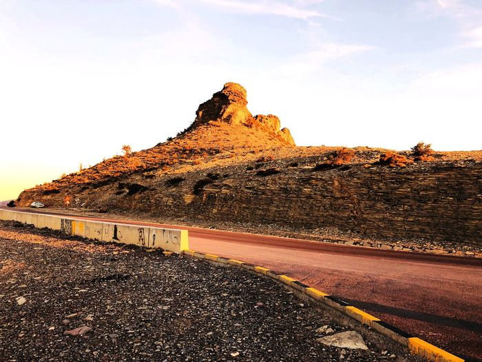 Journey To Top Travelling In Oman Oman Scenery Oman_photography Top Of A Mointain Rock Formation Rock - Object Road Geology Nature Landscape Tranquility Physical Geography Outdoors Tranquil Scene No People Scenics Beauty In Nature Sky Day Mountain The Way Forward Clear Sky Travel Destinations