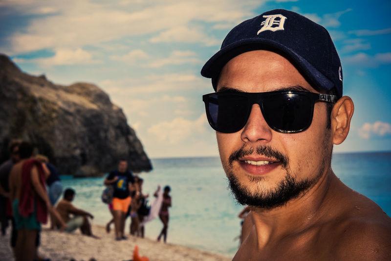 Beach Bro Egremnoi Friend Friends Lefkada Lefkada, Greece Nikon D5200 Person Photoshop Edit Portrait Sea Selective Focus Selfie Summer Sunglasses Vacations Water