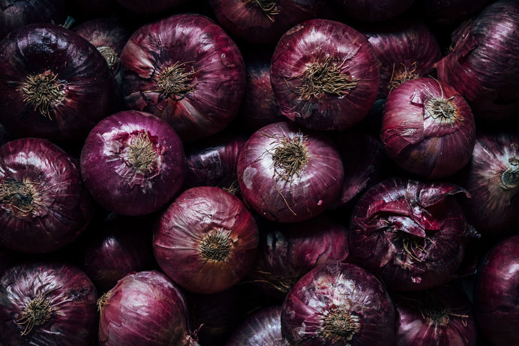 Full frame shot of onions
