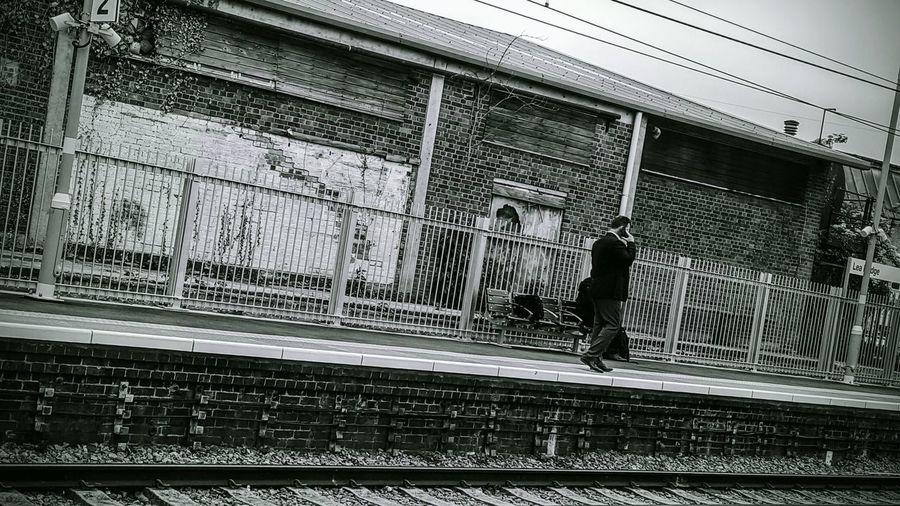Maninstyle Railwaystation Wory Black And WhManinstrailworyblackpfo Phonephotographer City Life Blackandwhite Photography