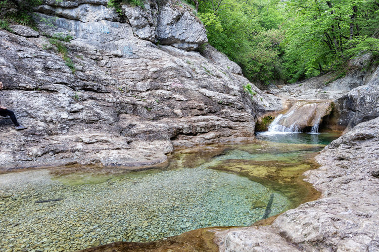 Water Rock Rock - Object Solid Beauty In Nature Waterfall Rock Formation Scenics - Nature Nature Tree Land No People Day Non-urban Scene Plant Environment Tranquility Motion River Outdoors Flowing Water Flowing Formation